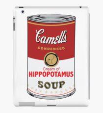 CAMELL'S Cream of HIPPOPOTAMUS Soup Pop Art iPad Case/Skin