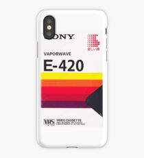 Vaporwave VHS iPhone Case