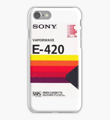 Sony E-420 VHS Cassette iPhone Case