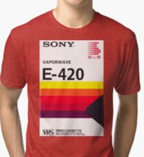Vaporwave VHS Tri-blend T-Shirt