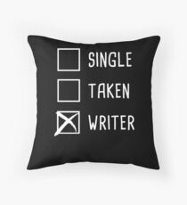 Funny Novelist Writer Graphic Gift Throw Pillow