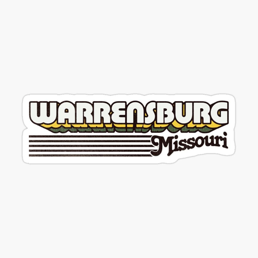 Warrensburg, Missouri | Retro Stripes Sticker