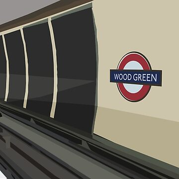 Wood Green Tube Station by delilahdesanges