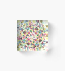 Color drops Acrylic Block