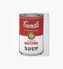 CAMELL'S Cream of RACCOON Soup Pop Art Art Board Print