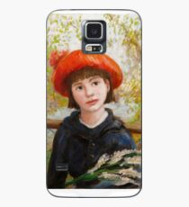 Portrait of a Girl with Flowers in the style of Renoir Case/Skin for Samsung Galaxy