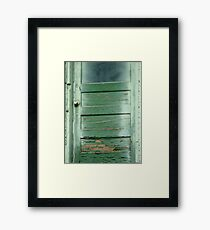 Green door. . .  Framed Print