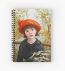 Portrait of a Girl with Flowers in the style of Renoir Spiral Notebook