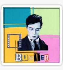 Buster Keaton Quadrants Collage Sticker