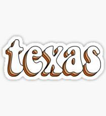 Texas Retro Sticker