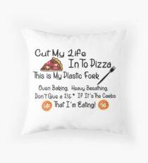 Funny Food Pizza Song Lyrics Throw Pillow