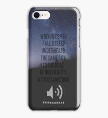 Beside You Lyrics 5sos iPhone Case/Skin