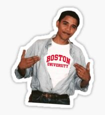 Barack Obama Boston University Sticker