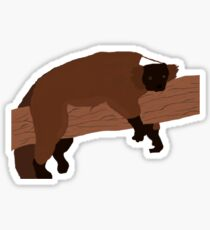 The lazy lemur Sticker