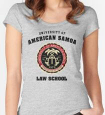 Universität von amerikanischem Samoa - T-Shirt Tailliertes Rundhals-Shirt