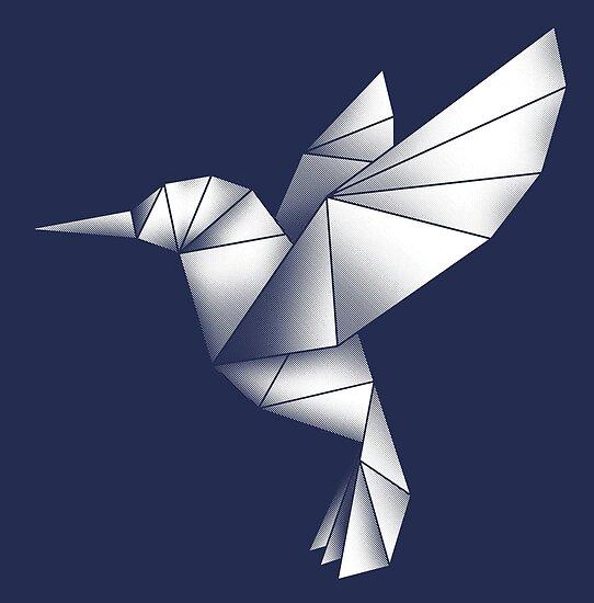 """Origami Hummingbird"" Posters by rakelittle | Redbubble - photo#23"