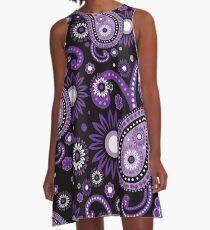 Violet and purple paisley A-Line Dress