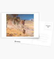 A Break Away by Tom Roberts Postcards