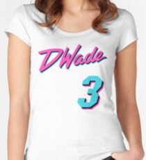 Vice Wade Jersey Script 1 Women's Fitted Scoop T-Shirt