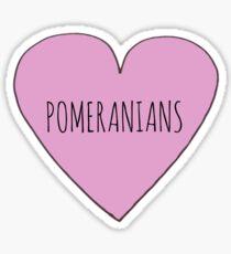 Pomeranian Love Sticker