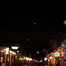 Bourbon Streetscape By Night by Snoboardnlife
