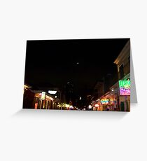 Bourbon Streetscape By Night Greeting Card