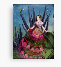Blue Agave and Cocoa Canvas Print