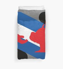 Pup and Handler Pride Flag Duvet Cover