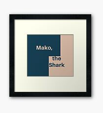 Mako Blocks Framed Print