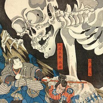 Utagawa Kuniyoshi - Takiyasha the Witch and the Skeleton Spectre by maryedenoa