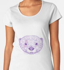 Otter Head Lightning Bolt Drawing Women's Premium T-Shirt
