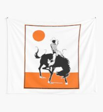 Cowboy on a Horse With Sun Wall Tapestry