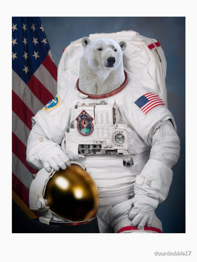 Polar Bear Astronaut by downbubble17
