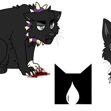 Scourge (purple) collar sticker set by deepfriedmeme