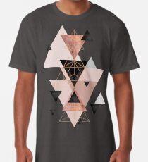 Geometrische Dreiecke in Rot- und Roségold Longshirt