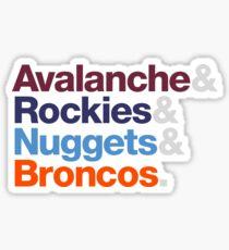 Denver Sports Teams Sticker