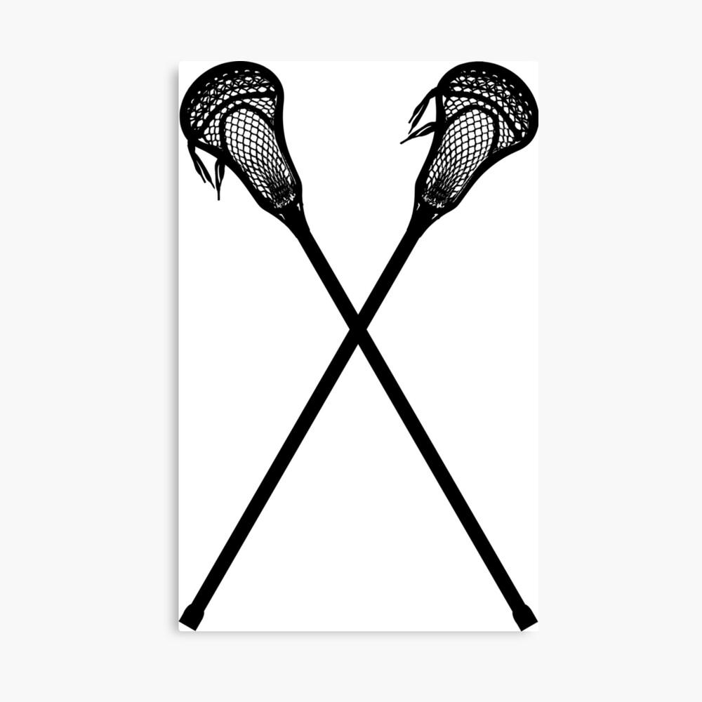 Lacrosse-Stöcke Leinwanddruck