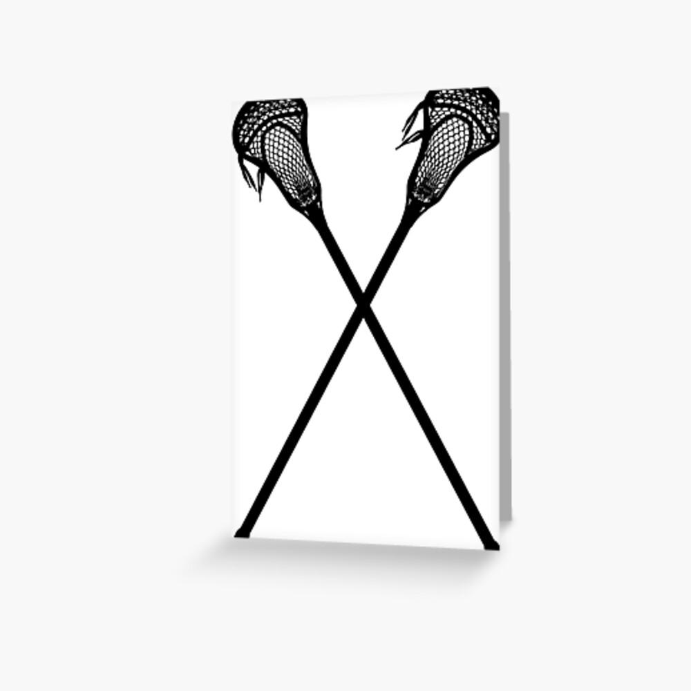 Lacrosse-Stöcke Grußkarte