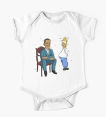 Obama Presidential Portrait Parody Featuring Homer and the Bush One Piece - Short Sleeve
