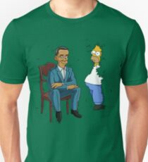 Obama Presidential Portrait Parody Featuring Homer and the Bush Unisex T-Shirt