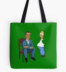 Obama Presidential Portrait Parody Featuring Homer and the Bush Tote Bag