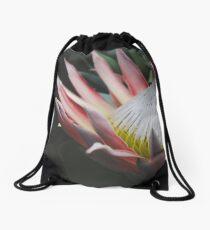 King Protea Flower Drawstring Bag