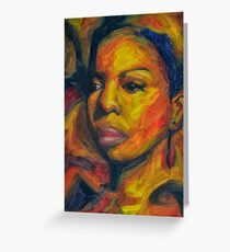 Famous people greeting cards redbubble i put a spell on you nina simone greeting card m4hsunfo