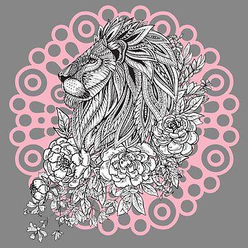 Wild Tribal Lion by NomadicMarket