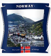 Norwegen - Das Land der Wikinger Poster