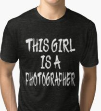 This Girl is a Photographer Tri-blend T-Shirt