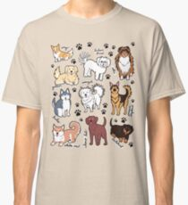 Camiseta clásica Perros lindos! 10 razas