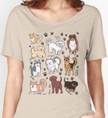 Camiseta ancha Perros lindos! 10 razas