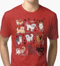 Camiseta de tejido mixto Perros lindos! 10 razas