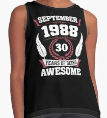 September 1988 30 years of being awesome Contrast Tank